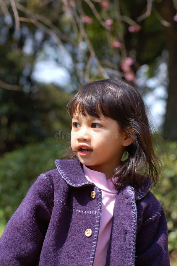 Retrato - menina ao ar livre foto de stock