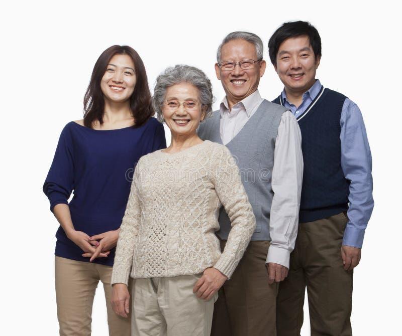 Retrato multi de la familia de la generación fotos de archivo libres de regalías