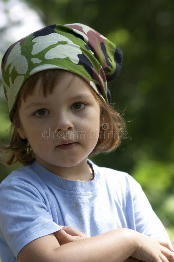 Retrato na floresta foto de stock royalty free