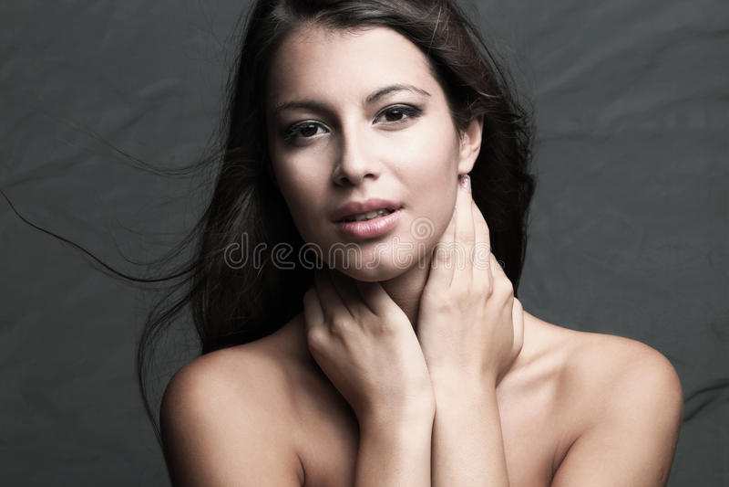 Retrato natural da mulher da beleza imagem de stock