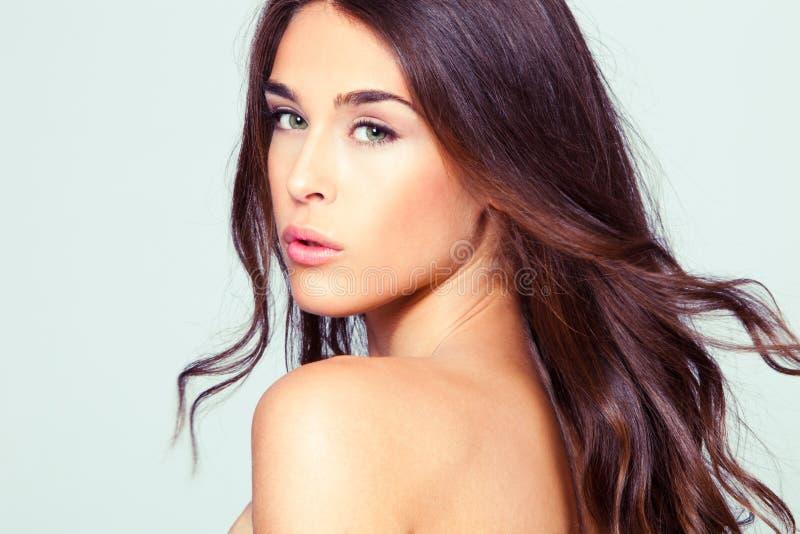 Retrato natural da mulher da beleza imagens de stock royalty free