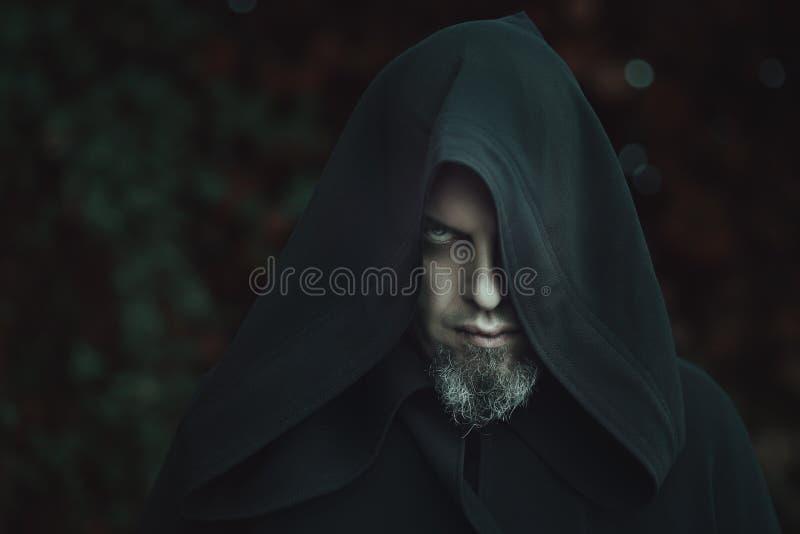 Retrato negro del brujo fotos de archivo libres de regalías