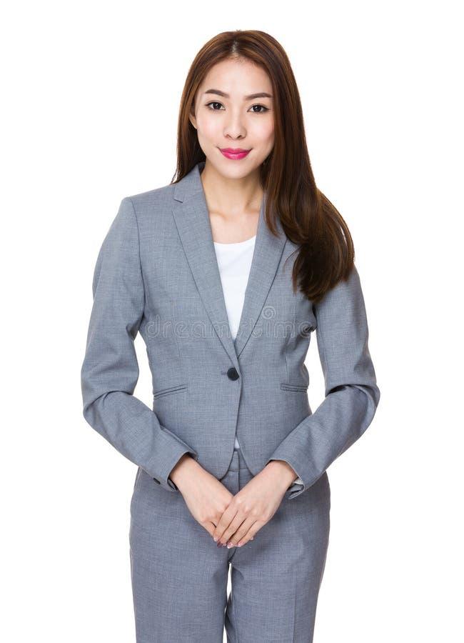 Retrato novo asiático da mulher de negócios imagens de stock