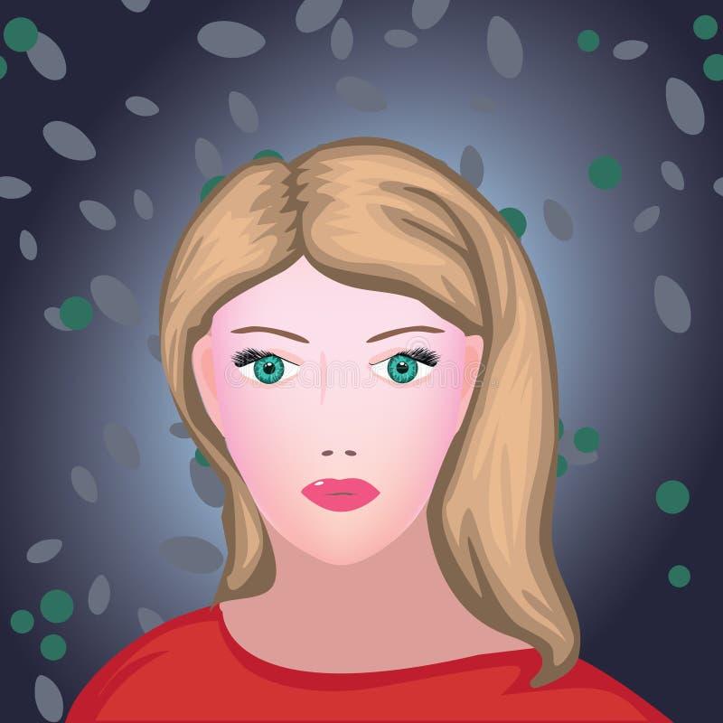 Retrato novo da mulher da beleza de Blondie ilustração stock