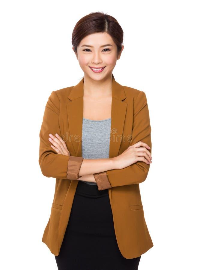 Retrato novo da mulher de negócios imagens de stock royalty free
