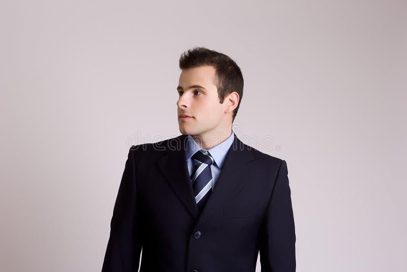 Retrato novo do homem de negócios imagens de stock