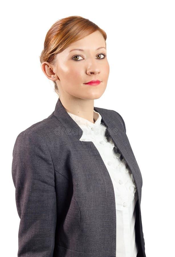 Retrato novo sério da mulher de negócio imagens de stock royalty free