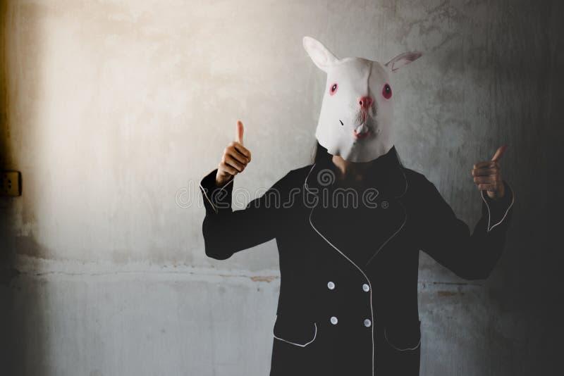 Retrato o fantasma do coelho fotografia de stock