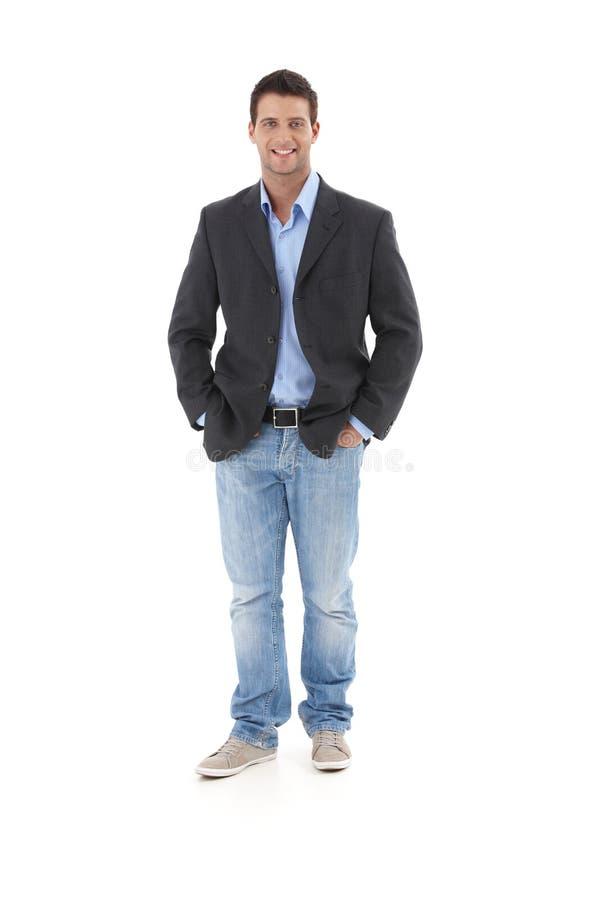 Retrato ocasional do homem de negócios novo imagem de stock