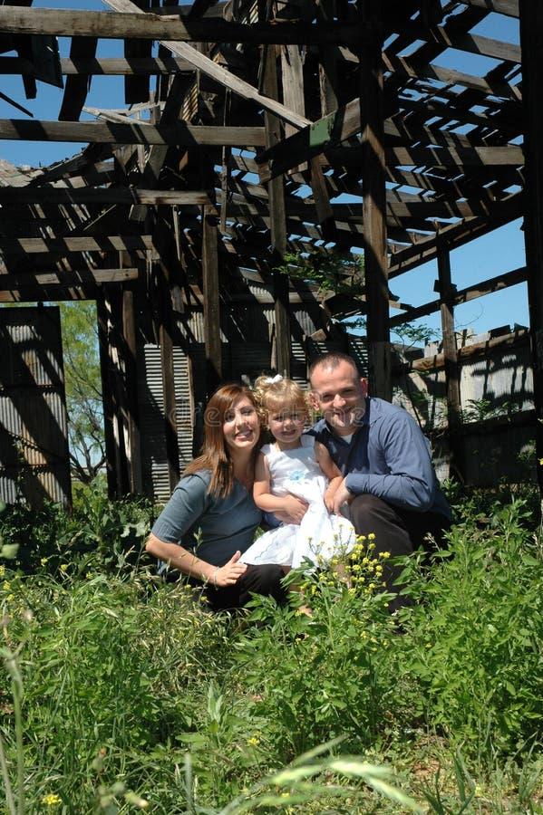 Retrato original da família imagens de stock