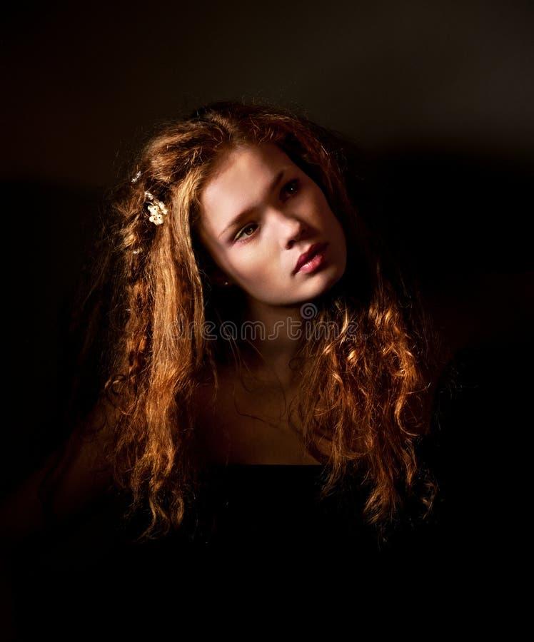 Retrato oscuro de la bella arte de la fantasía foto de archivo