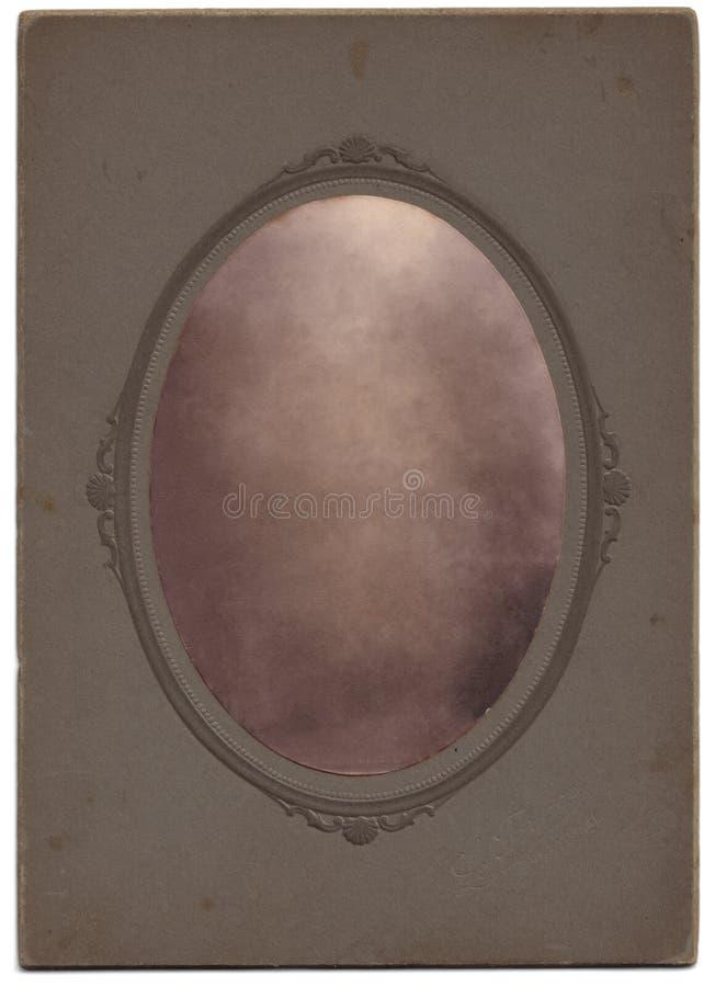Retrato oval de la vendimia, escondido foto de archivo