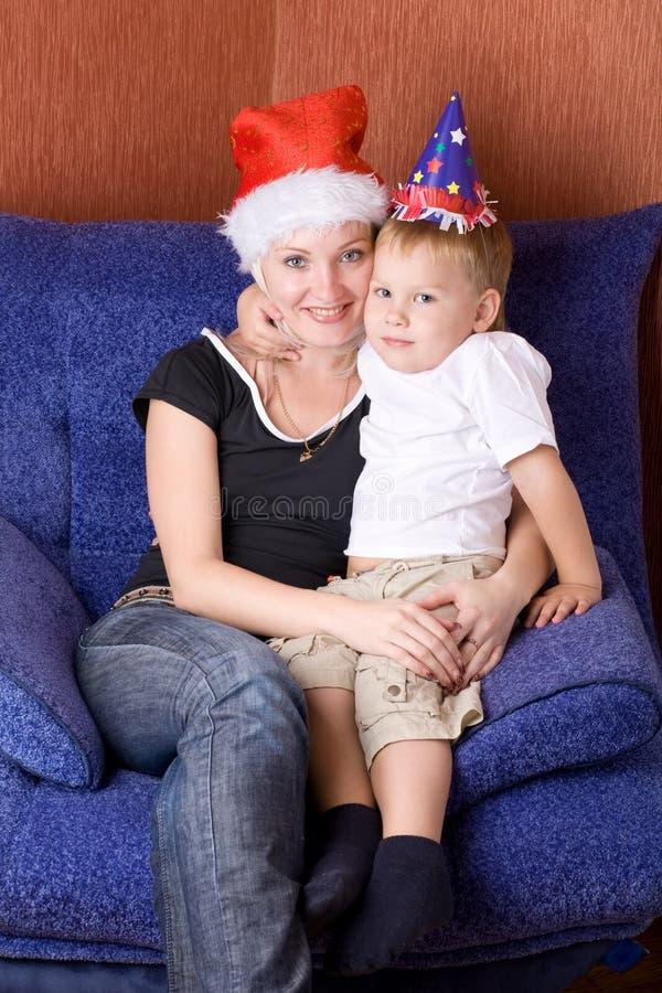 Retrato para o Natal fotografia de stock