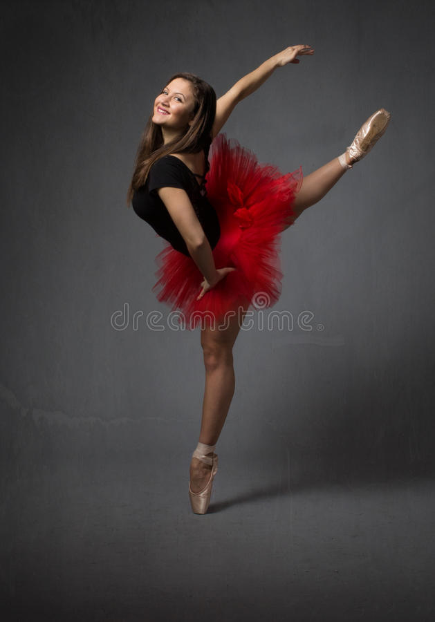 Retrato para una bailarina feliz imágenes de archivo libres de regalías