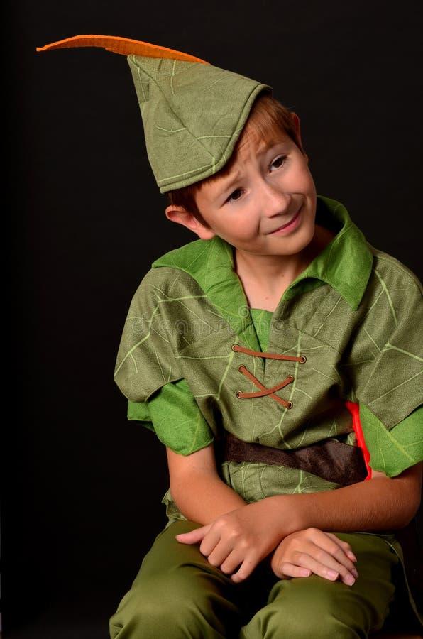 Retrato Peter Pan foto de stock royalty free