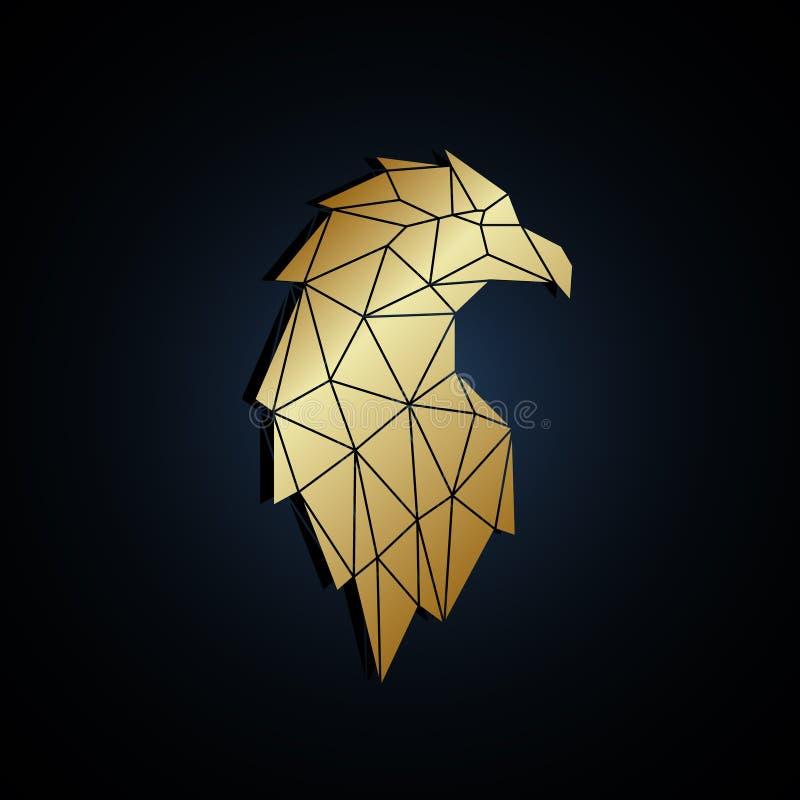 Retrato poligonal abstrato da águia ilustração royalty free