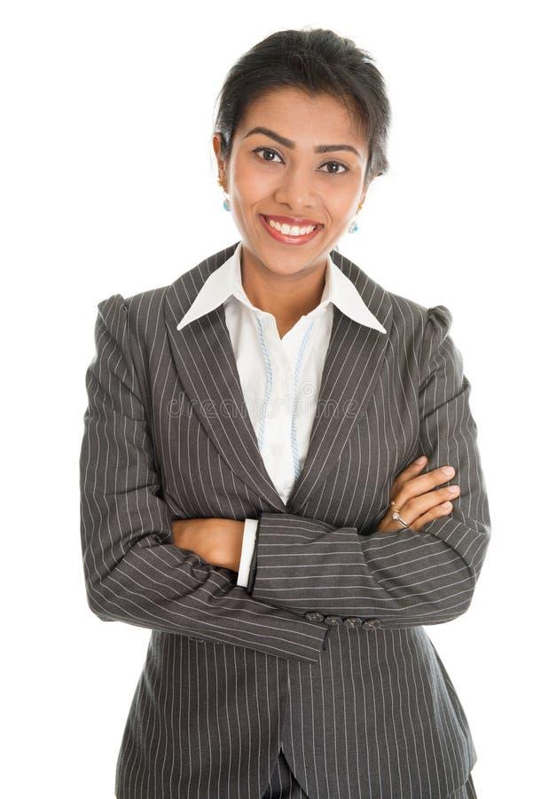 Retrato preto da mulher de negócios fotos de stock