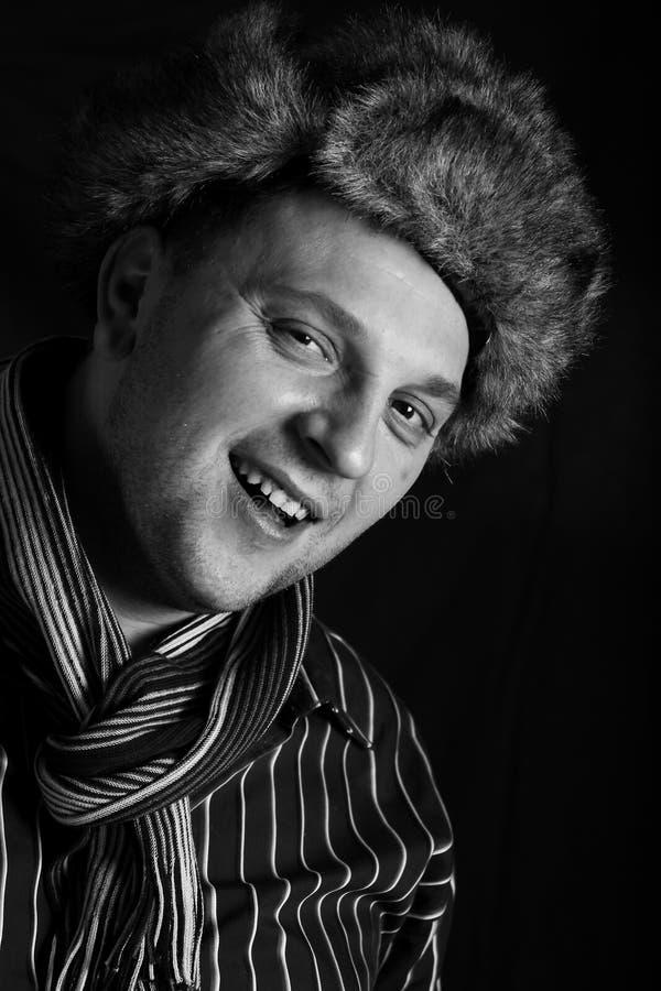 Retrato preto e branco do Mens. fotos de stock
