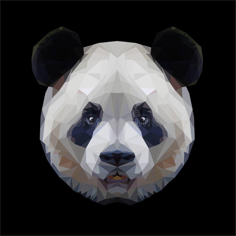 Retrato principal del polígono de la panda ilustración del vector