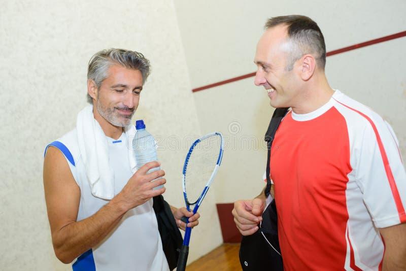 Retrato que joga squash imagem de stock royalty free