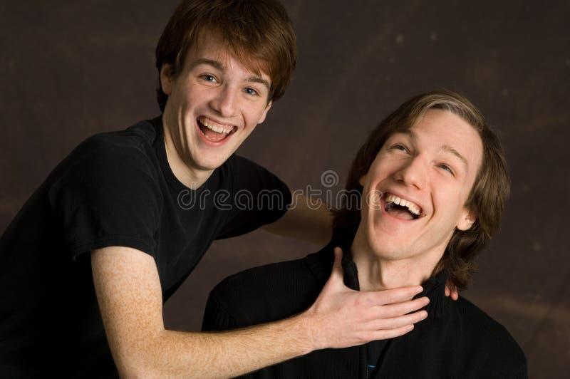 Retrato raro de hermanos adolescentes imagenes de archivo