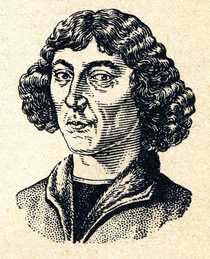 Retrato retro Copernicus de la imagen del dibujo del vintage libre illustration