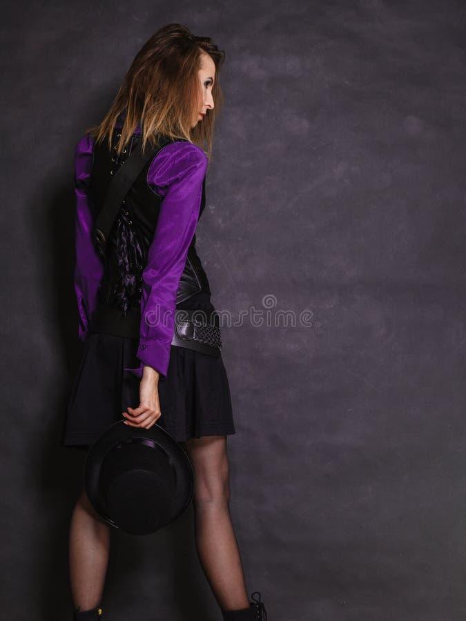 Retrato retro da menina de Steampunk fotografia de stock