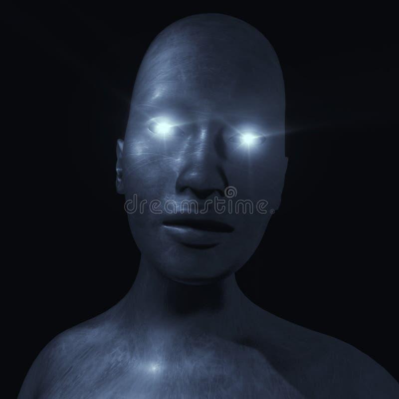 Retrato roto ser humano principal stock de ilustración