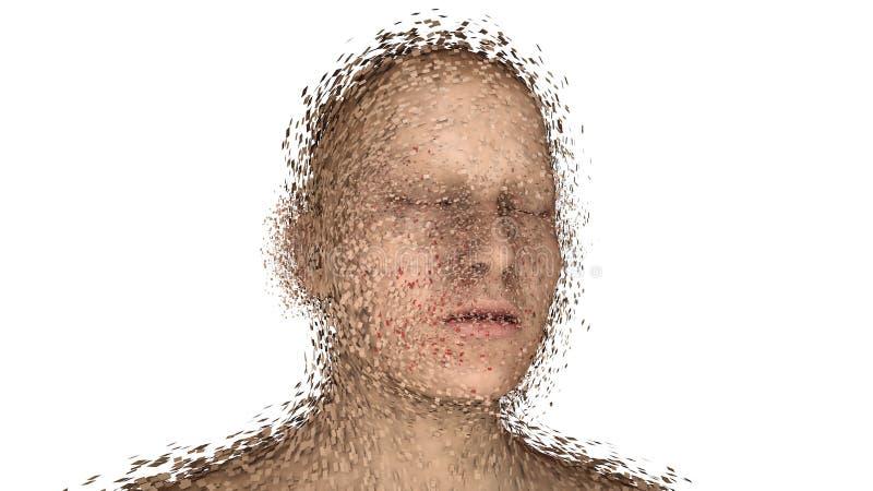 Retrato roto ser humano principal libre illustration