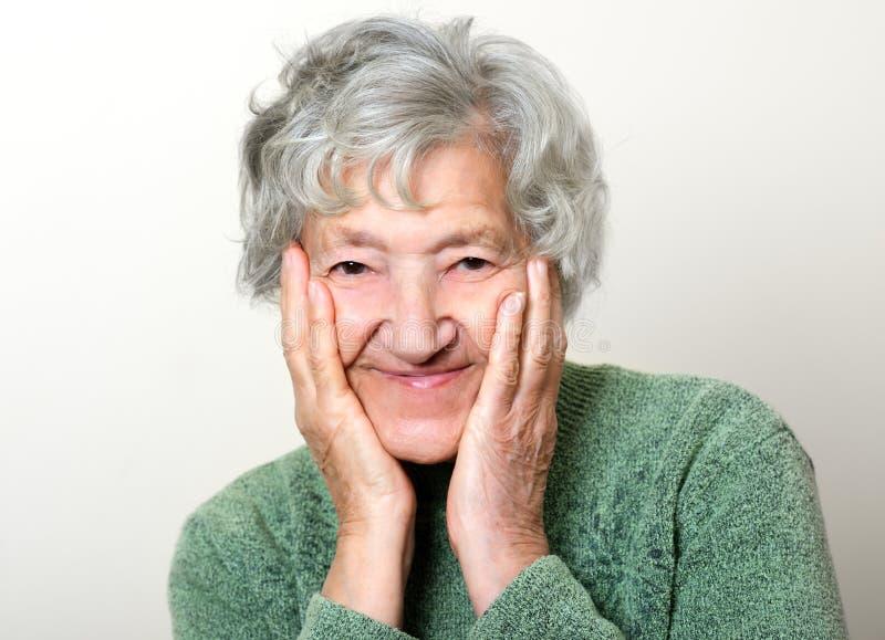 Retrato sênior feliz fotografia de stock royalty free