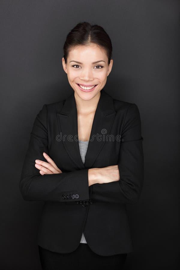 Retrato seguro da mulher de negócios fotos de stock royalty free
