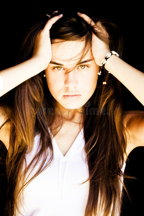 Retrato sensual da mulher. fotografia de stock