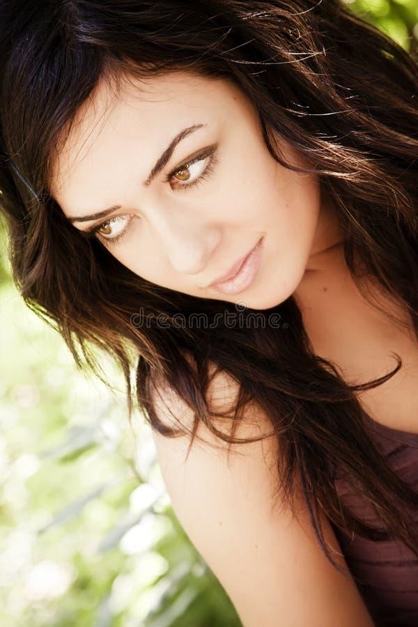 Retrato sensual da mulher foto de stock
