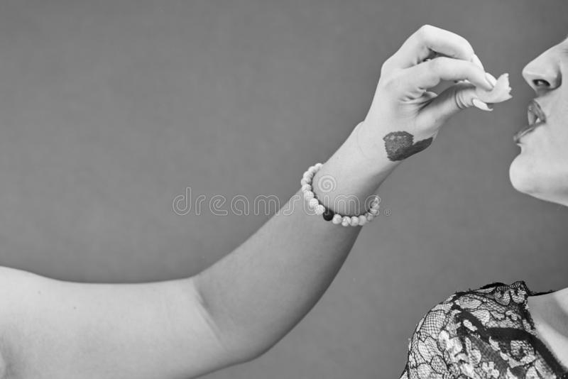 Retrato sensual da mulher despida nova fotos de stock royalty free