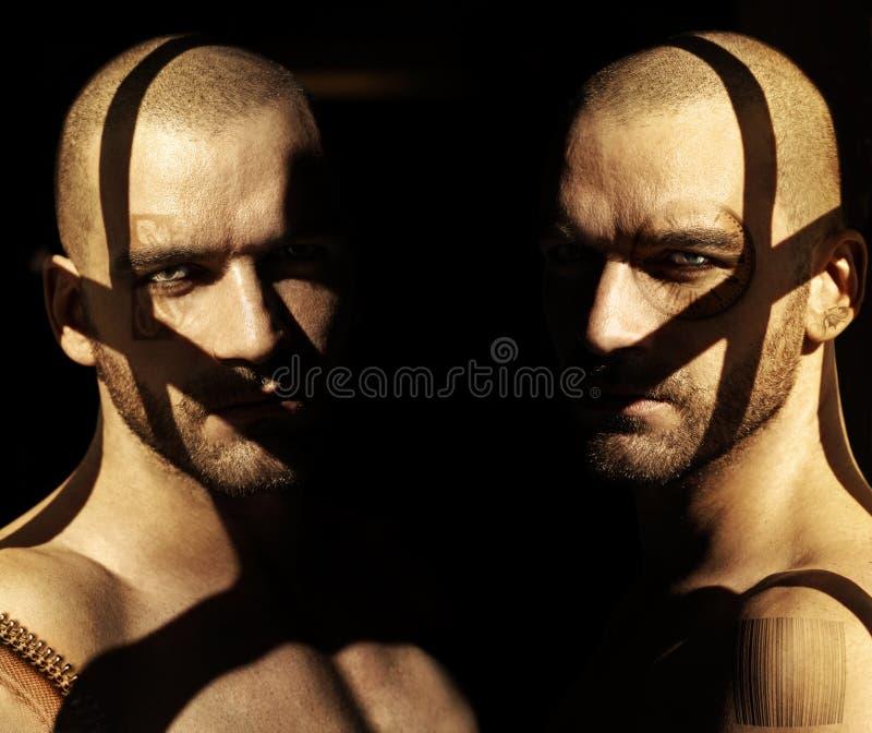 Retrato sensual da sombra fotografia de stock