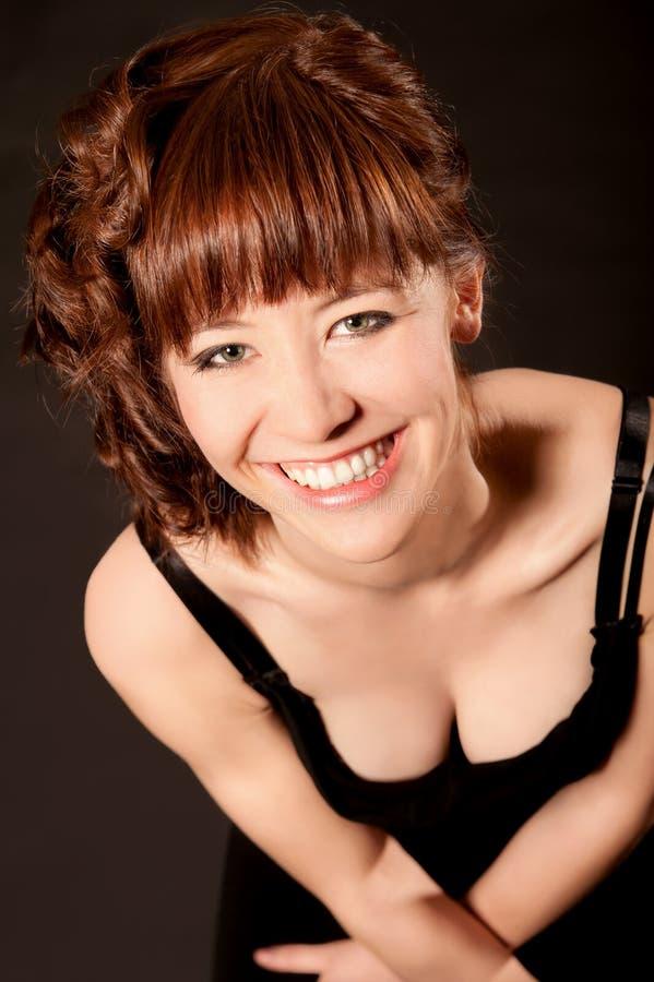 Retrato sensual do close up da mulher consideravelmente nova foto de stock royalty free
