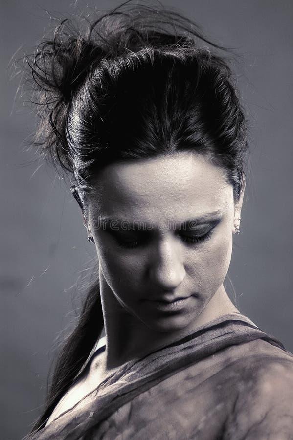 Retrato 'sexy' da mulher no estilo do vintage fotografia de stock