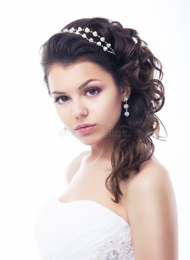 Retrato 'sexy' encantador triguenho bonito do close up da mulher imagem de stock royalty free