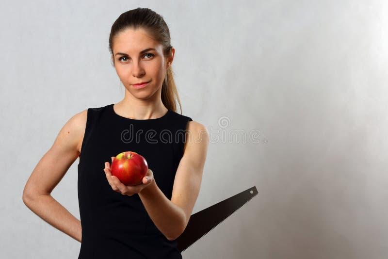 Retrato simbólico de um menina-mentiroso imagem de stock royalty free