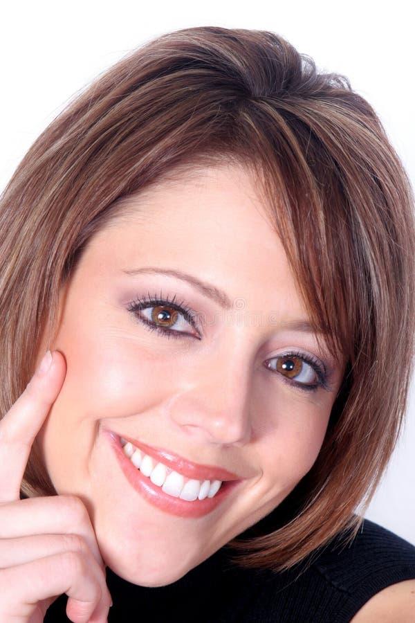 Retrato sonriente hermoso del Redhead foto de archivo