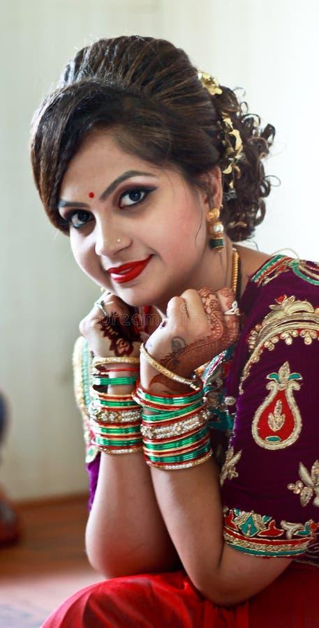 Retrato sonriente la India de la novia fotos de archivo libres de regalías