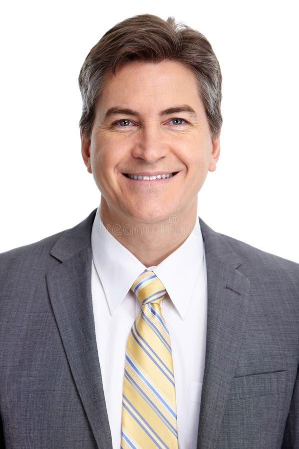 Retrato sonriente maduro del hombre de negocios fotos de archivo libres de regalías