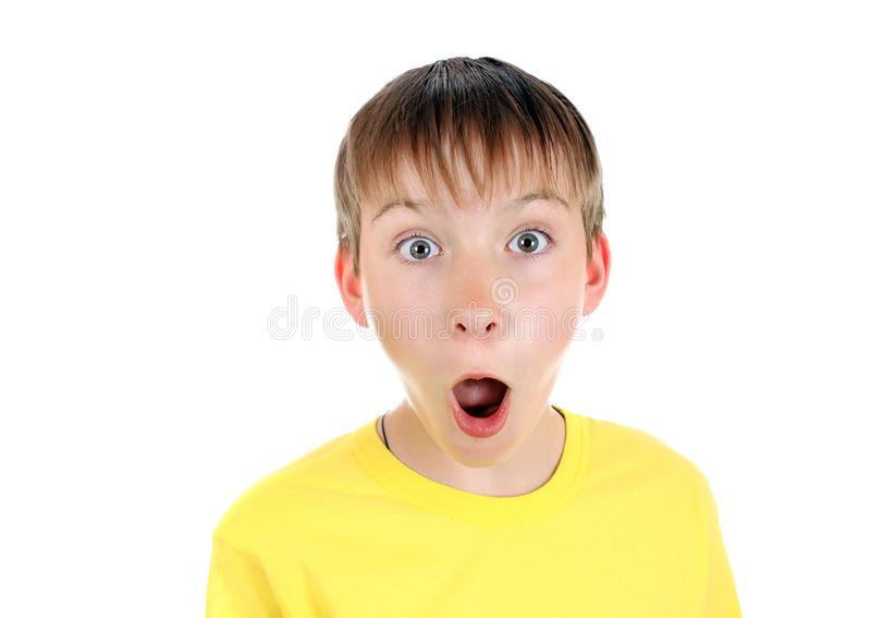 Retrato sorprendido del niño fotografía de archivo