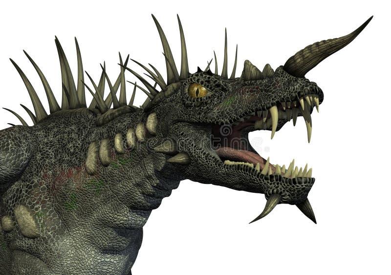 Retrato Spiky do dragão ilustração do vetor