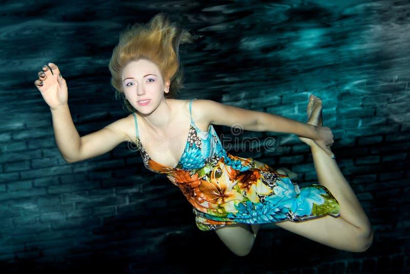 Retrato subacuático imágenes de archivo libres de regalías
