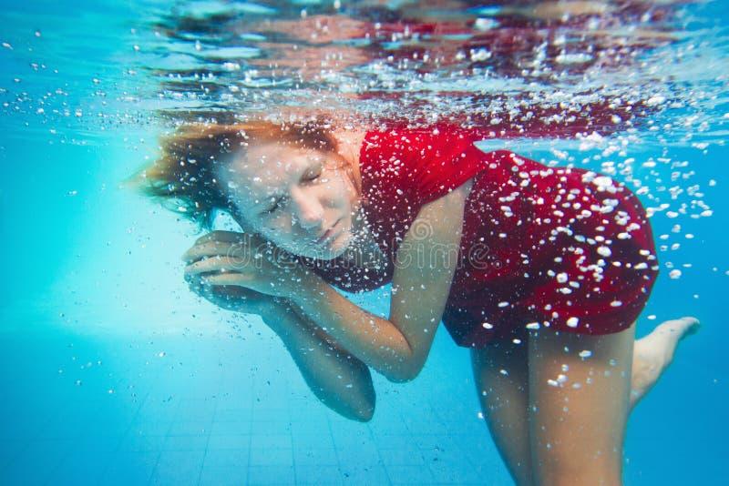 Retrato subaquático fotos de stock royalty free