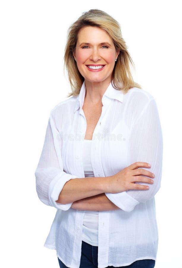 Retrato superior bonito da mulher. fotos de stock