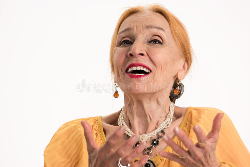 Retrato superior da mulher fotografia de stock royalty free