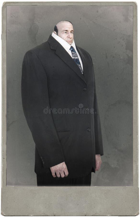 Retrato surreal engraçado do homem de negócio, fotografia imagens de stock royalty free