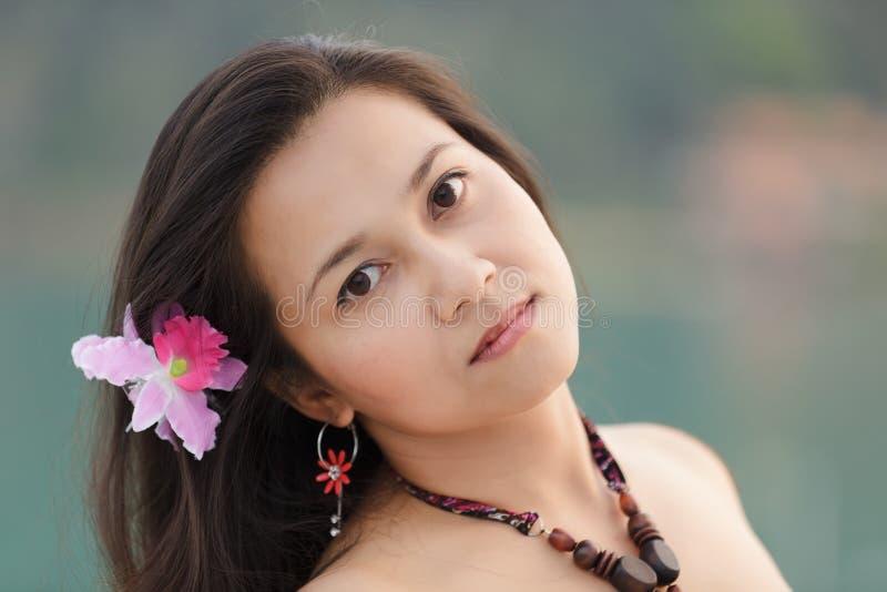 Retrato tailandés de la mujer fotos de archivo libres de regalías